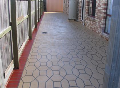 Domestic Patio Resurfacing. Decorative Resurfacing Solutions. Residential  Doorway Concrete Stencil Resurfacing